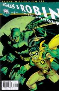 All Star Batman and Robin, the Boy Wonder, #9 by Jim Lee, with inks by Scott Williams and colors by Alex Sinclair, 2005