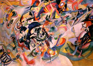 Composition VII (1913) 78.7 × 118.1 inches oil on canvas by Wassily Kandinsky (1866-1944)