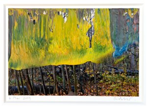 6.5.2009, 2009 Oil on photograph 3 15/16 x 5 7/8 inches by Gerhard Richter