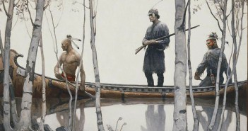The Last of the Mohicans (endpaper), 1919 by N.C. Wyeth (1882-1945)