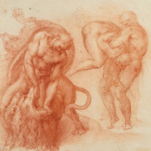 Three Labours of Hercules, c.1530 red chalk drawing on paper 27.2 x 42.2 cm by Michelangelo