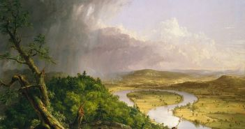 The Oxbow, View from Mount Holyoke, Northampton, Massachusetts, after a Thunderstorm (1836) oil on canvas by Thomas Cole (1801–1848)