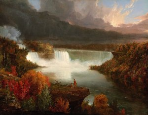 Distant View of Niagara Falls (1830) oil on canvas by Thomas Cole
