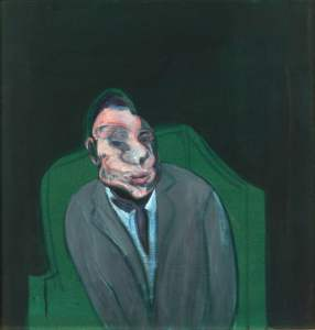 Head of a Man, 1960 oil on canvas by Francis Bacon