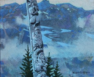 Experimental Sketch (Skeena) 10 x 12 inches acrylic on canvas by Robert Genn