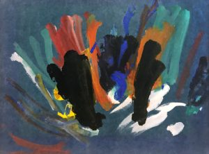 30th Painting Session 11th December, 1957 paint on paper 37 x 51cm by Congo (1954-1964)