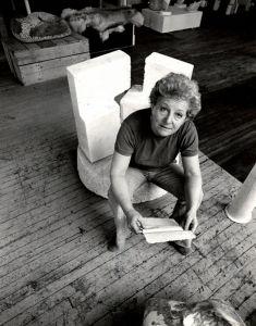 Hanna Eshel in her loft in New York, February, 1979