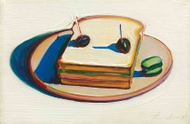 Sandwich, 1963  oil on canvas 8 x 12 inches by Wayne Thiebaud (b. 1920)