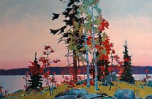 Lake of the Woods Classic, 2005 acrylic on canvas 36 x 40 inches by  Robert Genn (1936-2014)