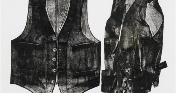 Two Vests, 1972 Etching on paper 24 x 32.5 inches by Betty Roodish Goodwin (1923–2008)