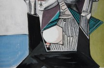 The Suppliant, 1937 Gouache 9 x 7 inches Graphic strength and the fearful wisdom of Guernica. Full angst by Pablo Picasso