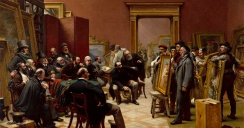 The Council of the Royal Academy selecting Pictures for the Exhibition, 1875, 1876 by Charles West Cope RA (1811 - 1890)