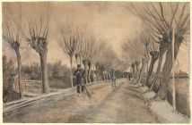 Road in Etten, 1881 Chalk, pencil, pastel, watercolor 39.4 x 57.8 cm by Vincent van Gogh