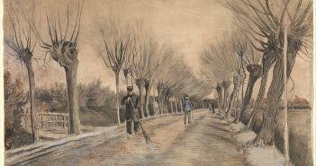 Road in Etten, 1881 Chalk, pencil, pastel, watercolor 39.4 x 57.8 cm by Vincent van Gogh