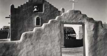 New Church, Taos Pueblo, New Mexico, c. 1929 Gelatin silver print 7 1/2 × 9 7/16 inches by Ansel Adams