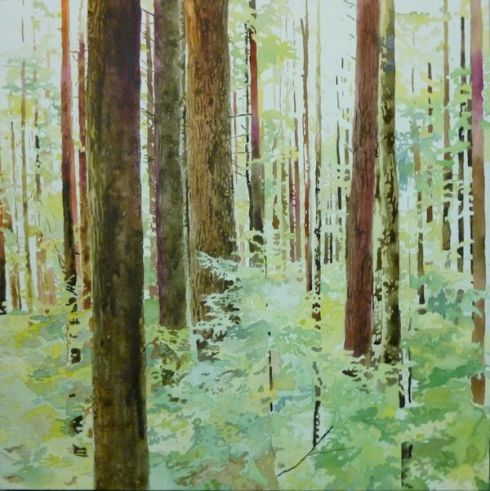 painting a forest in watercolor