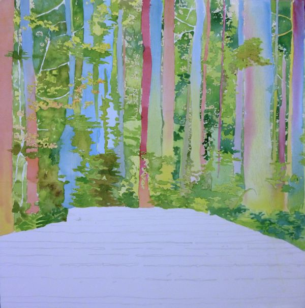 bright colors underpainting