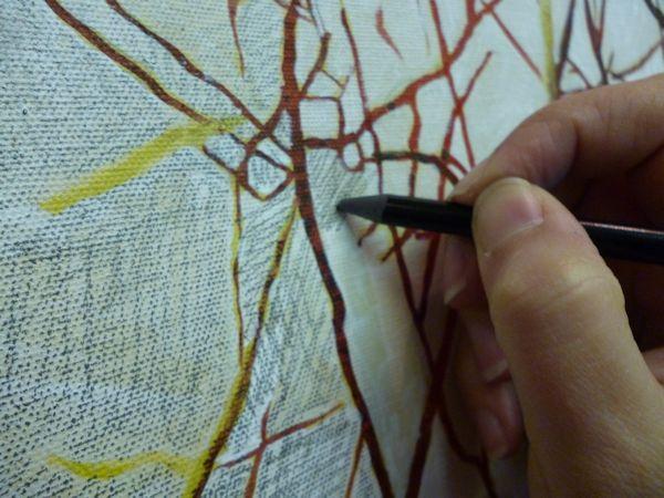 pencil scribbling