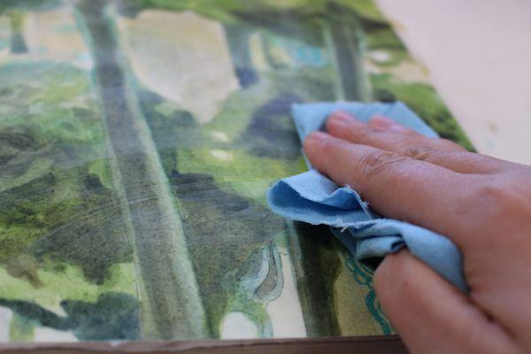applying the wax