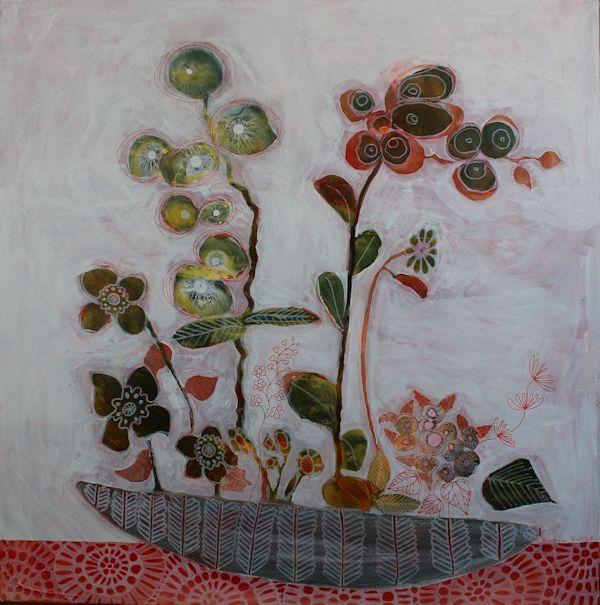 Still life in red- Mixed media painting tutorial
