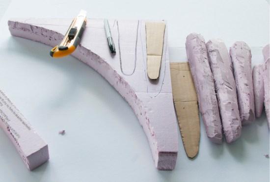 Cutting foam insulation board