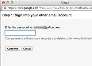 Masukan password akun Yahoo email dan kontak ke gmail Cara memasukkan email dan kontak ke gmail Masukan password akun Yahoo
