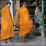 Monks on their Alms Round