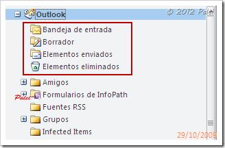 Orden de carpetas en Outlook 2010