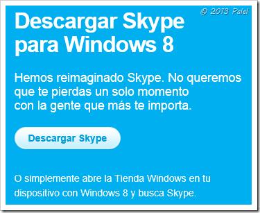 Descargar Skype para Windows 8