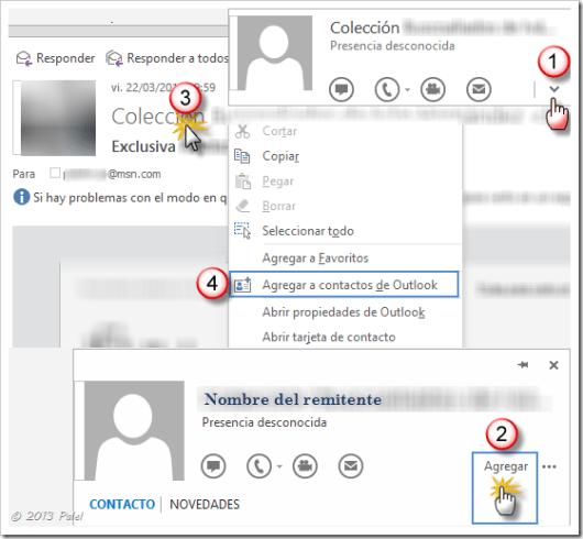 Contactos Outlook 2013 1