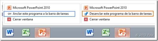Anclar o desanclar aplicaciones en la barra de tareas