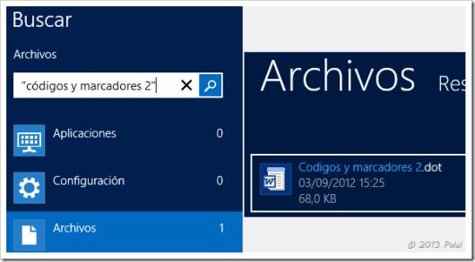 Búsqueda en Windows 8 1