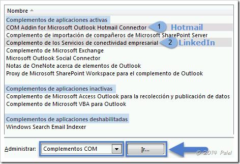 Complementos Outlook 2010 - Palel.es