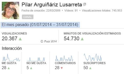 Estadísticas FINALES julio 2014 - Palel.es