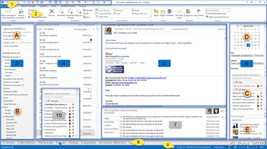 Capítulo A—2: Interfaz Outlook 2013
