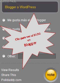 Clic para ir a Blogger