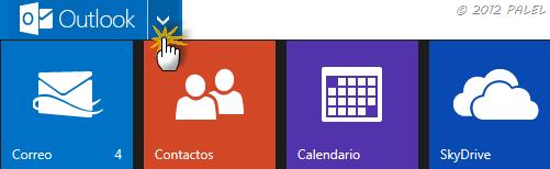 Paneles disponibles en Outlook.com