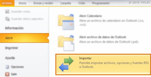 Archivo - Abrir - Importar