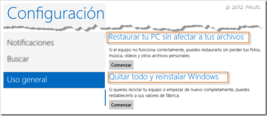 Restaurar o Reinstalar Windows 8 - 1