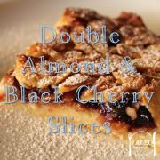 Paleo Diet Primal Recipe Double Almond and Black Cherry Slices-min