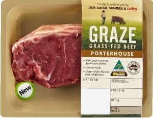 Graze Grass-fed beef meat Paleo Coles Supermarket shopping list primal