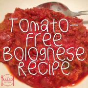 Tomato-Free Bolognese Recipe paleo diet dinner lunch spaghetti-min
