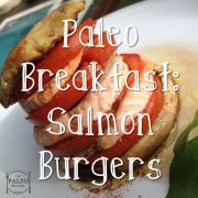 Paleo Breakfast Salmon Burgers recipe mushrooms-min