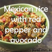 Paleo Diet Recipe Primal Mexican rice with red pepper and avocado-min