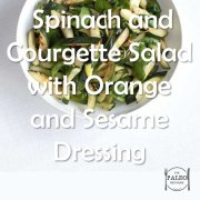 Paleo Diet Recipe Primal Spinach Courgette Salad Orange Sesame Dressing-min
