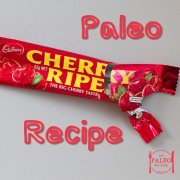 Paleo cherry ripe recipe bar chocolate treat homemade-min