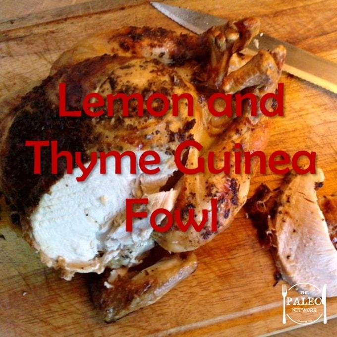 Paleo diet recipe Christmas Lemon and Thyme Guinea Fowl dinner lunch-min