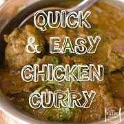 Paleo recipe Quick & Easy Chicken Curry Indian-min