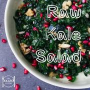 Raw Kale Salad with Goji Berries, Sprouts and Pumpkin Seeds paleo primal lunch dinner-min