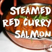 Steamed Red Curry Salmon paleo recipe dinner Indian fish-min